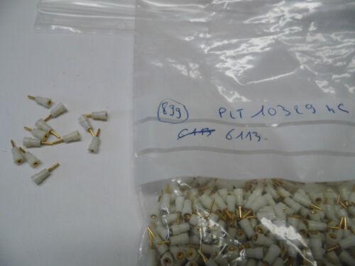 lot de 100 plots de test 1mm dorés isolés blancs