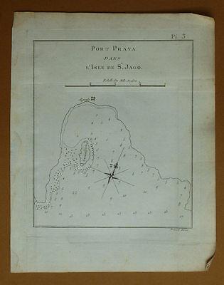 Radient Porto Praya All'interno Di L'ile De Saint Jago Viaggio Del Capitano Cook 1778 Relieving Rheumatism And Cold Other Antiques