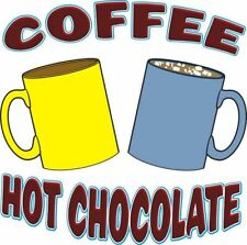 Coffee Hot Chocolate Drinks Concession Cart Food Trucks Sticker Sign Decal 14