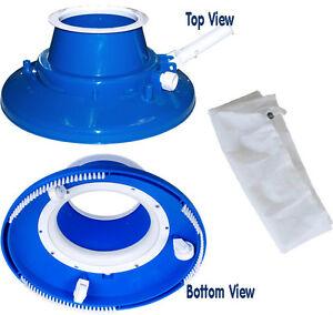 Details about Swimming Pool Leaf Eater Gulper Vacuum w/Wheels/Bristle  Brush, Standard Mesh Bag