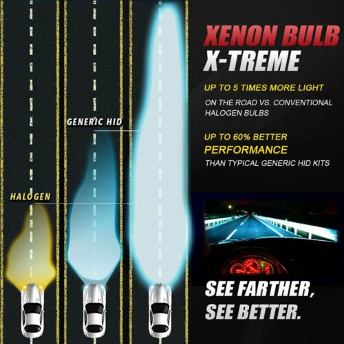 2x H13//9008 Aliens HID Replacement Xenon Bulbs  5000k 6000k 8000k All Color