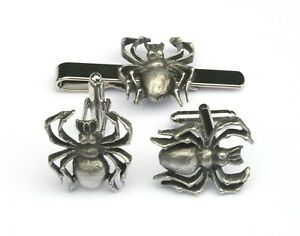 Davy Lamp Pewter Cufflinks and Tie Clip Set Miners Gift Boxed 100