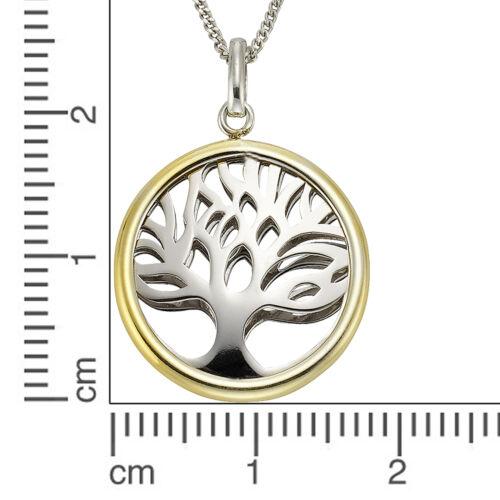 ZEEme Silver Anhänger mit Kette 925 Sterling Silber rhodiniert 40cm Lebensbaum