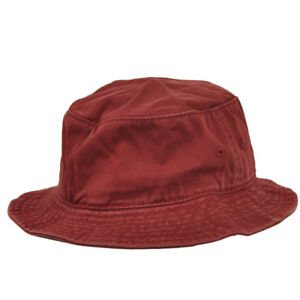 American Needle Faded Burgundy Blank Plain Flex Fit Small Medium Bucket Sun Hat