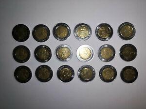 MEXICO COIN PESO 2010 BIMETALLIC $5 REVOLUTION FULL SET 18 COINS AZTEC SUN STONE