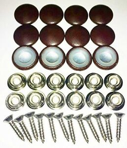 12 Dura Snap Upholstery Buttons Sienna Brown Choice Of Size And