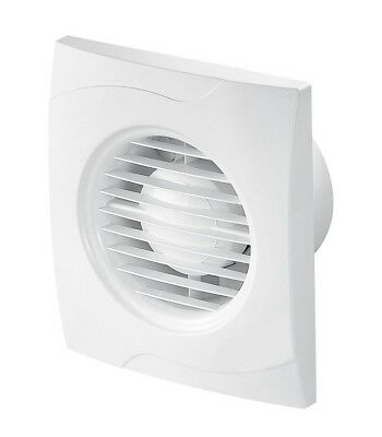 White Bathroom Extractor Fan 100mm with Pull Cord Switch ...