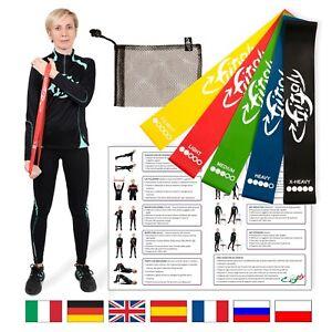 Elastici Fitness e Fisioterapia FitFitaly - Set con PDF per Esercizi in Italiano