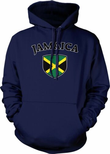 Jamaica Flag Crest National Soccer Irie Mon Football Pride Hoodie Pullover
