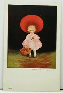 Bernhardt-Wall-Autumn-Girl-with-Basket-of-Apples-1906-Postcard-H10