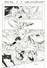 Iron Man #8 p.4 - Tony Stark vs Death's Head in Trial by Combat art by Greg Land
