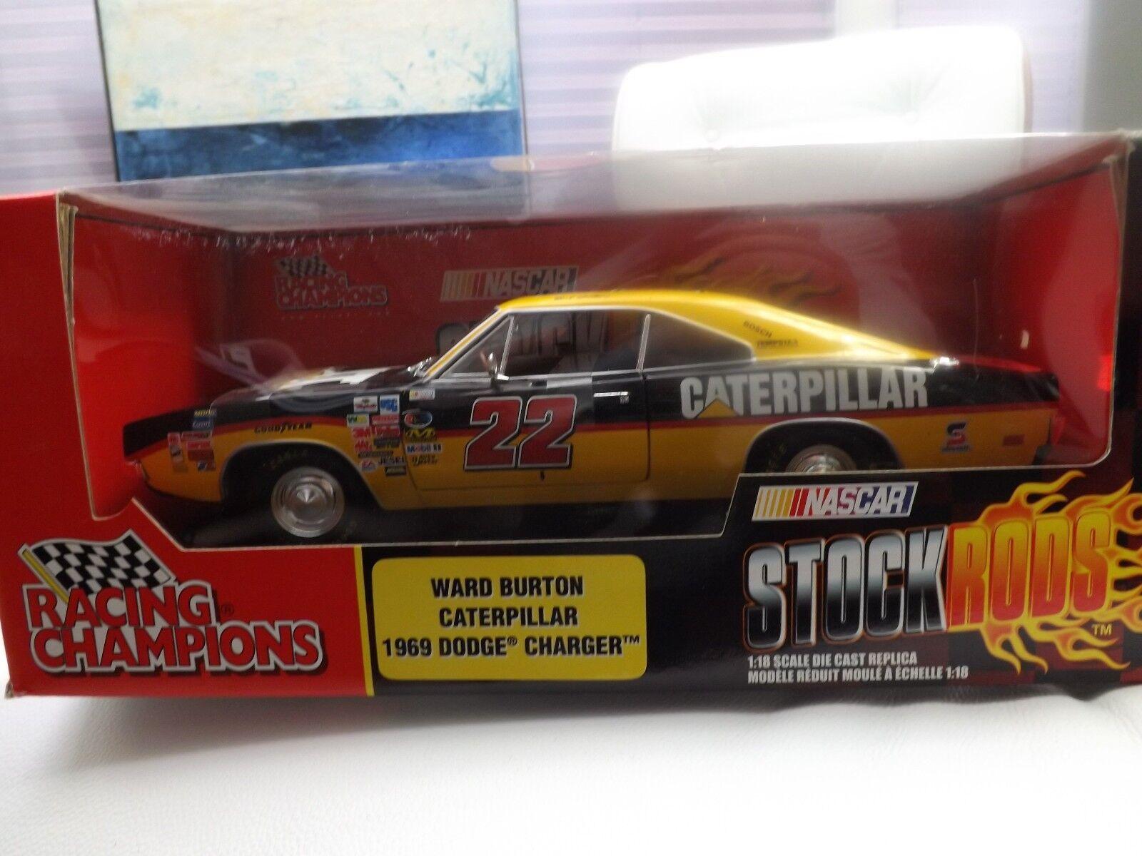 1 18 Ertl 1969 Dodge Charger Ward Burton Caterpillar-RARE