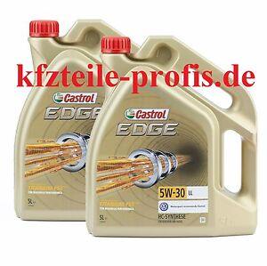 Original CASTROL EDGE SAE 5W-30 LL TITANIUM FST 2 X 5l Liter Motoröl Öl 15669E