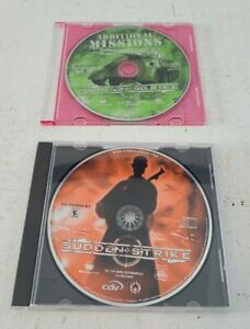 SUDDEN STRIKE and ADDITIONAL MISSIONS PC DVD Games w/ jewel cases only LOT of 2