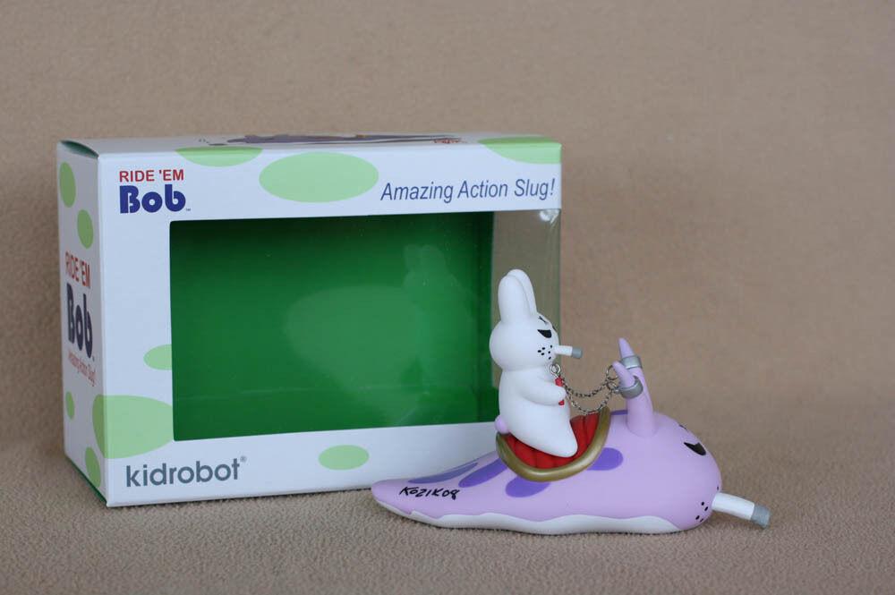 Frank Kozik SIGNED Kidrobot 5  Ride 'Em Bob Slug AUTOGRAPHED Vinyl LE 1000 NEW