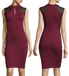 French Connection Merlot Tania Tuck Stretch Jersey Bodycon Dress, 6R -