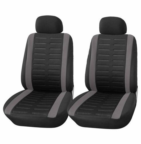 Hinten Kfz Schon-bezug Sitzbezug schwarz+grau Auto Sitzbezüge Set für Vorne