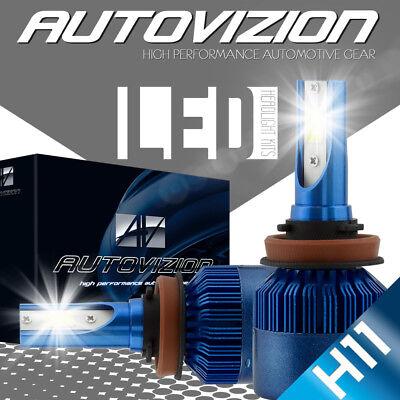 2x H11 388W LED Headlight Fog Light Car Truck Bulbs Kit White Beam 6000K 24000LM