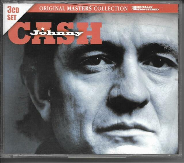 Johnny Cash ~ Original Masters Collection by Johnny Cash (3-Disc, CD) Like New