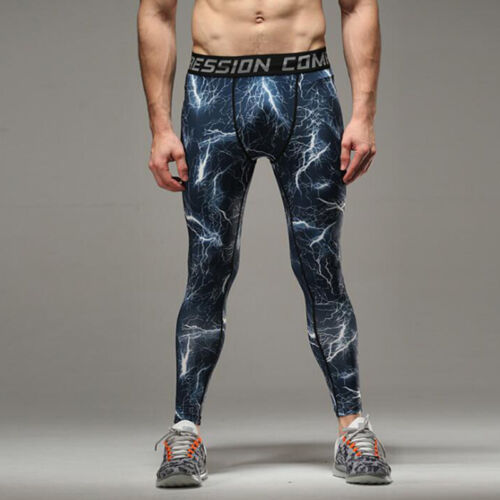 Herren Kompressionshose Camouflage Tight Legging Slim Fit Sport Gym Funktionhose