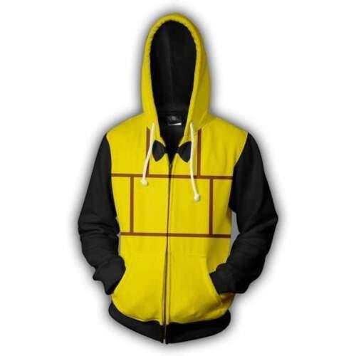 Gravity Falls Bill Cipher 3D printed Zipper Hoodie Jacket Cosplay Sweatshirt