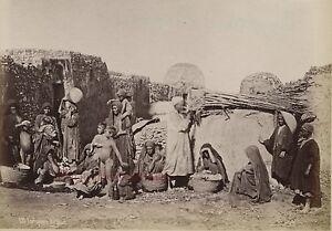Egitto Cairo Foto Albumina Stampa Verso 1890 IN Piccolo Format