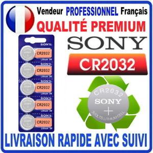 Pile CR2032 Lithium 3V SONY Pile bouton QUALITÉ PREMIUM SONY