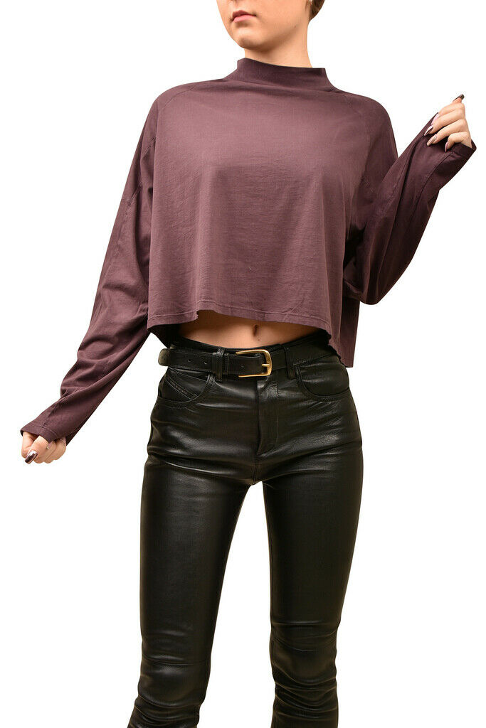 Free People damen Simple Crew Neck Top Wide lila Größe XS