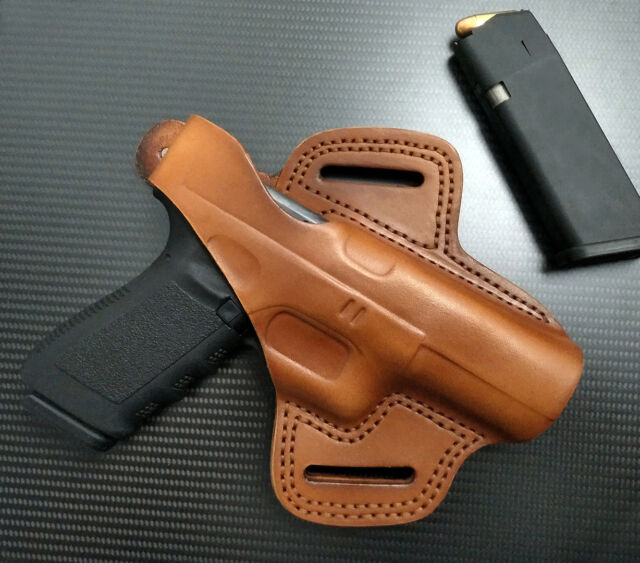 Fits Glock 17,19,22,23,24,31,32,34,35,37,38 RIGHT Hand TAN Leather Holster