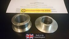 BMW S1000RR HP4  CAPTIVE WHEEL SPACERS.   2012 ON  SILVER