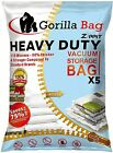 Heavy Duty 5 Vacuum Storage Bags by Gorilla Bags Extra Large 100 X 80cm