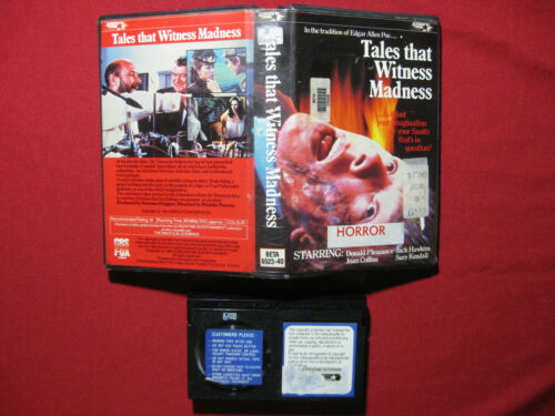 Betamax Tales That Witness Madness Horror Movie ExRental Rare Beta Video Tape