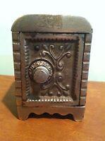 Antique Cast Iron Toy Combination Safe Still Bank
