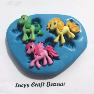 Silicone Mould My Little Pony cupcake toppers decorations fondant ...