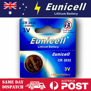 1x-EUNICELL-CR2032-3V-LITHIUM-CELL-BATTERY-5004LC-2032-BR2032-BUTTON-BATTERIES