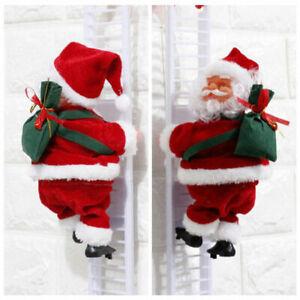 Musical-Climbing-Ladder-Santa-Claus-Christmas-Figurine-Ornament-Decoration-Gifts