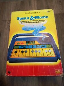 Texas-Instruments-Speak-And-Music-Vintage-1986-Toy-Fully-Working