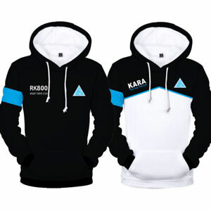 Become Human Print Hoodie Unisex Jumper Sweatshirt Pullover Outwear UK Detroit