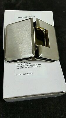 Shower Door Hinge 135 Gtg Two Tone Brushed Nickel Amp Gold