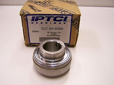 NEW SUC204-20MM  20mm Stainless Set Screw Insert Bearing  UC204-20MM   MUC204