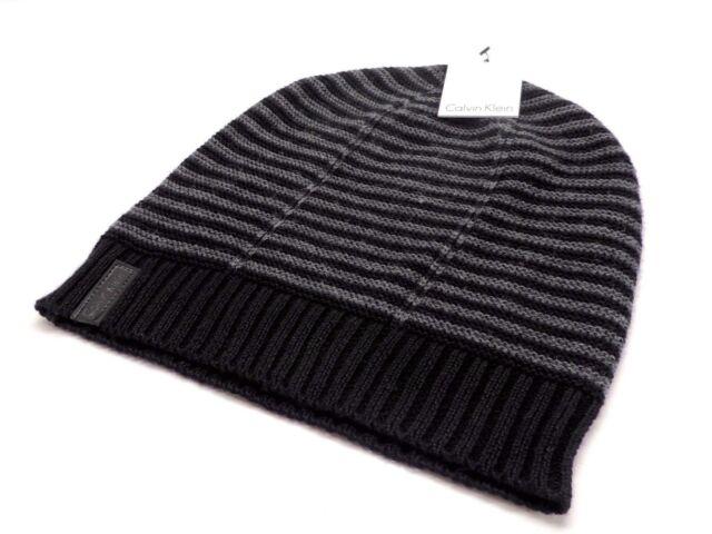 9bd190069 Calvin Klein Mens Soft Knit Wool Blend Beanie Ski Hat Size OSFM Color Black