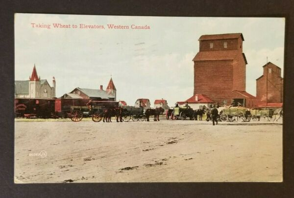 1908 Winnipeg Manitoba Toronto Prenant Du Blé à Silos Canada Postcard Cover Haute SéCurité