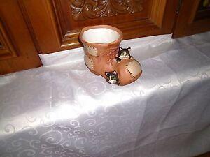 Wohn- Dekoration, Keramik-Schuhe mit 2 Kätzchen NEU