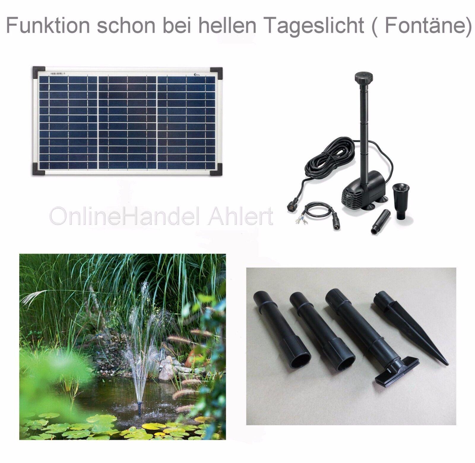 20 W bomba solar estanque solar jardín bomba bomba estanque pumpenset estanque lote de Bach nuevo
