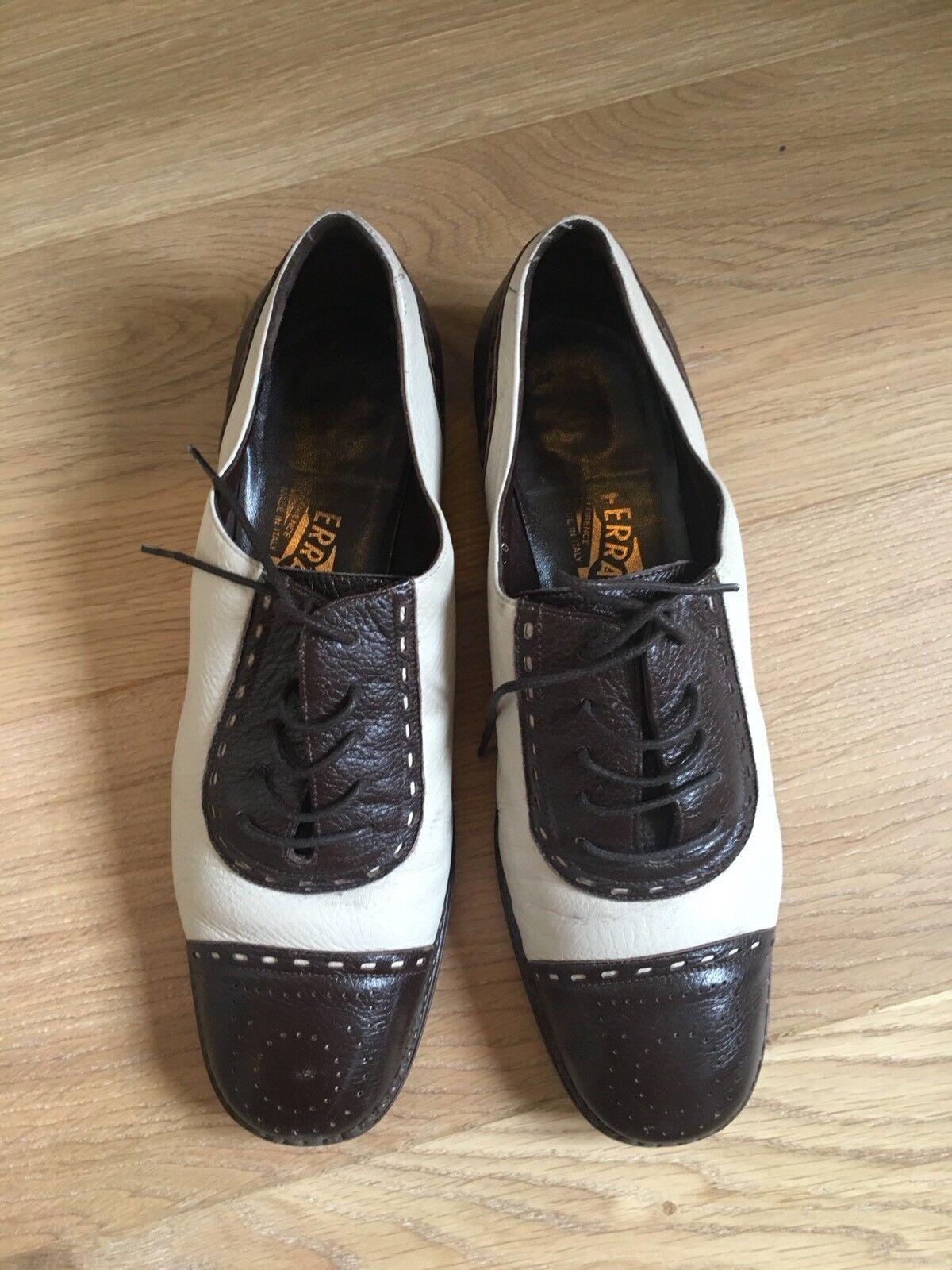 Chaussures derbies biCouleures Salvatore Ferragamo T38 Italien