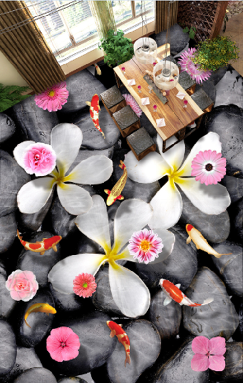 3D Stone flowers 3646 Floor WallPaper Murals Wall Print Decal 5D AJ WALLPAPER
