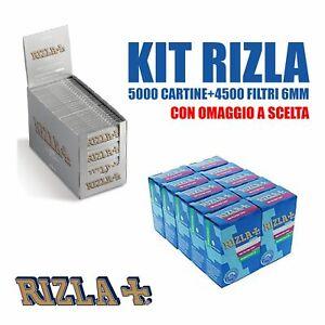 5000-cartine-Rizla-silver-corte-e-4500-Filtri-Rizla-SLIM-6-mm-OMAGGIO-A-SCELTA