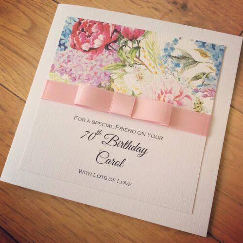 Open Female Birthday Card Greeting Card Flowers Butterflies Mum Sister Auntie