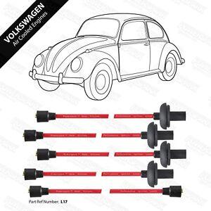 VW-Refrigerado-Por-Aire-1100cc-a-1600cc-silicona-doble-de-rendimiento-8mm-Rojo-Ht-Lidera