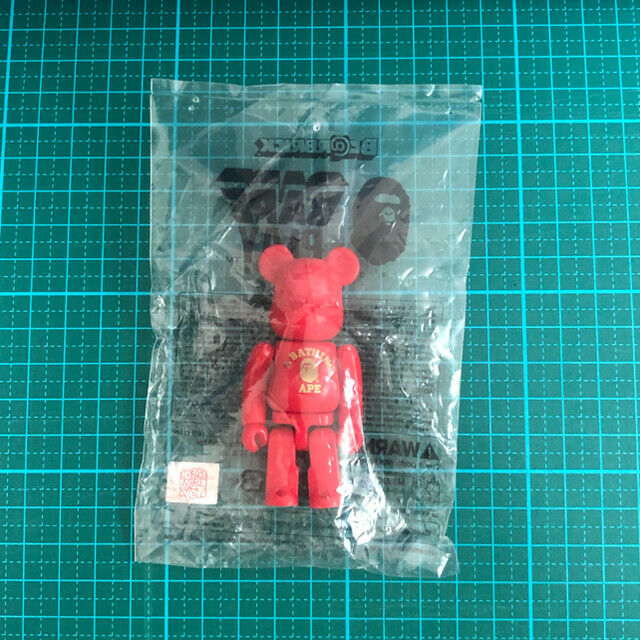 BE@RBRICK BAPE PLAY 100% RED unopened unopened red not for sale